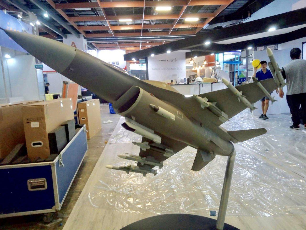 我國計劃對美採購66架F-16V Block 70戰機,2019台北航太展上,有...