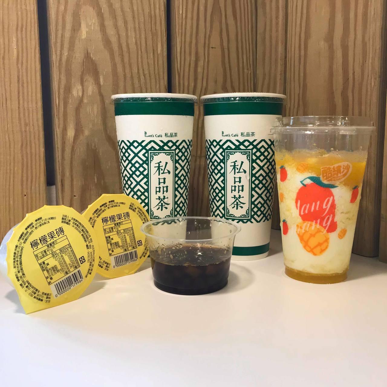全家便利商店新推出「焦糖珍珠Q奶」、「夏日檸檬飲」、「芒果牛奶酷繽沙」。記者陳立...