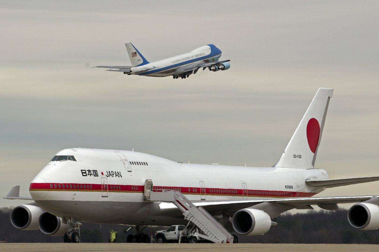 圖為今年初除役的日本空軍一號。美聯社
