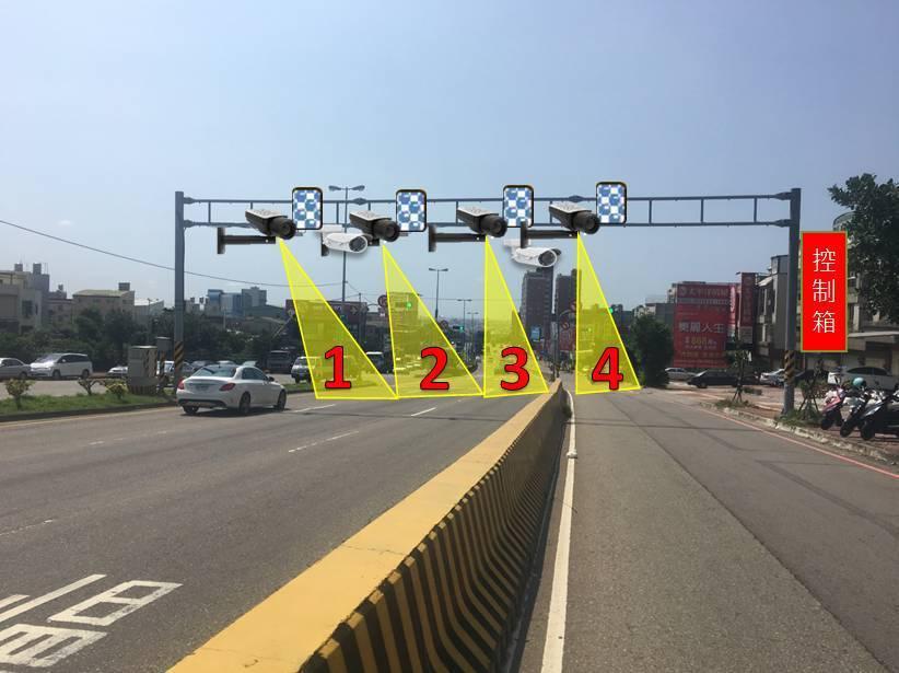 台中市警局交大預計在今年10月,測試位於沙鹿區向上路6段、台61線西濱快速道路兩...