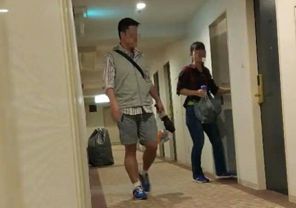 軍情局林姓前少校監察官(左起)遭妻子指控與同袍的妻子徐女共遊日本,還同宿一房,求...