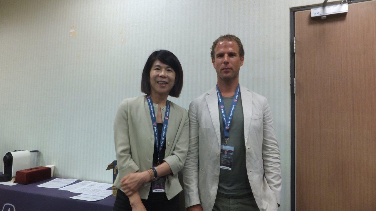 ELEVEN SPORTS集團董事總經理Danny Menken(右)、台灣區總...