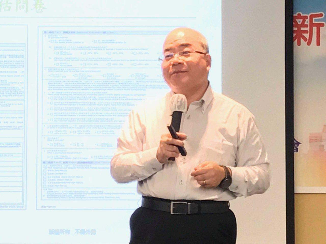 香港銀行學會講師蔡澤寶。記者陳怡慈/攝影