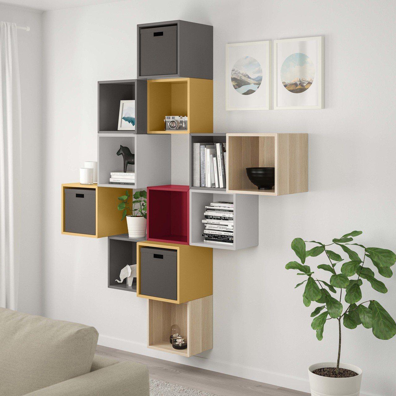 EKET收納櫃可依喜好堆疊及搭配,符合各種空間需求。圖/IKEA提供