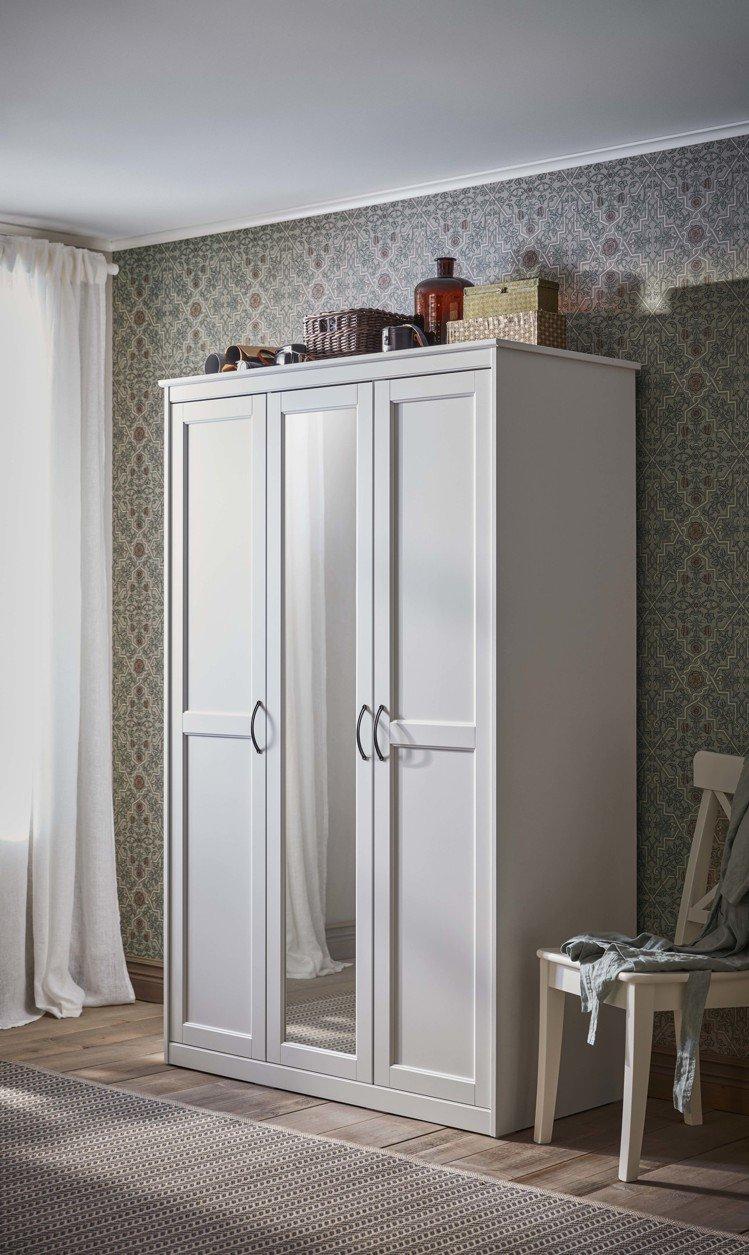 SONGESAND衣櫃/衣櫥(白色),原價7,990元、再創低價7,290元。圖...