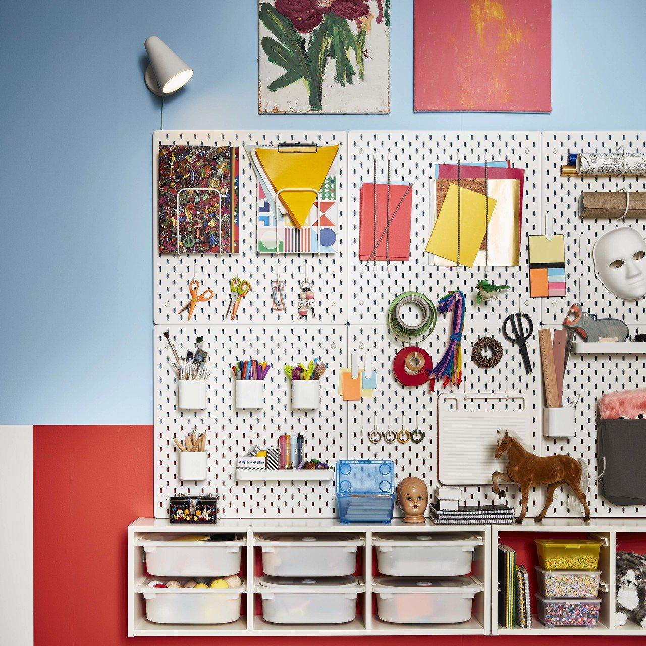 SKÅDIS收納壁板(白色),原價690元、再創低價599元。圖/IKEA提供