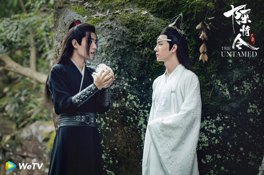 肖戰(左)與王一博主演「陳情令」爆紅。圖/WeTV提供