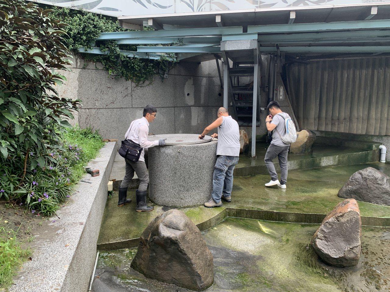 台中市政府水利局停掉綠柳川等水井抽水,大幅降低電費。圖/水利局提供