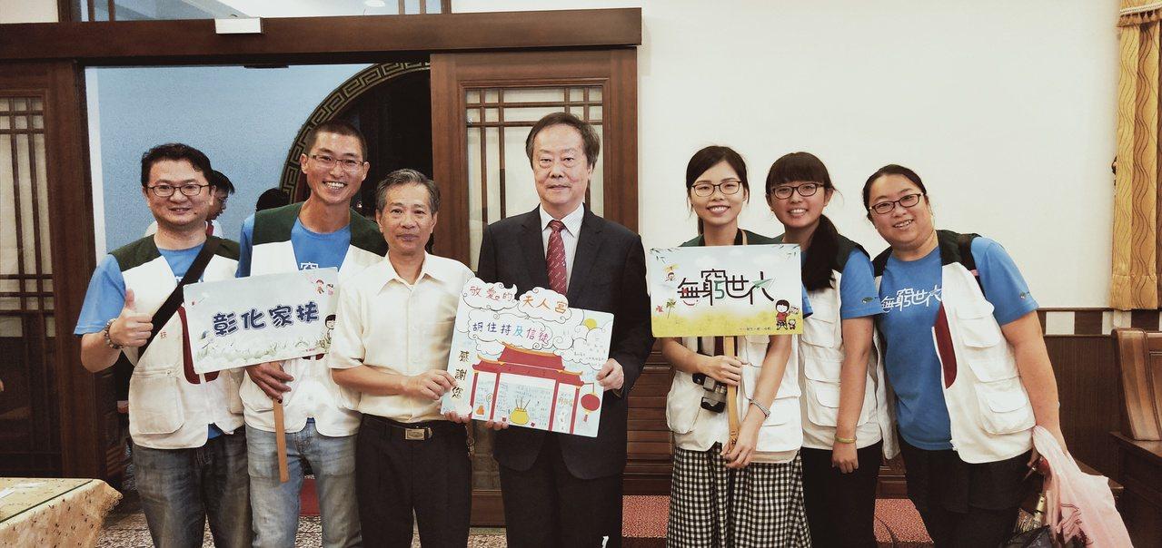 彰化家扶中心今天感謝二林鎮天人宮捐贈物資。記者林敬家/攝影