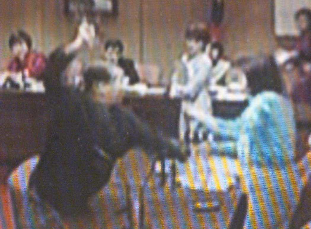羅福助2001年曾因景文案槓上國民黨立委李慶安,在教育委員會出拳毆打李。 圖/聯...