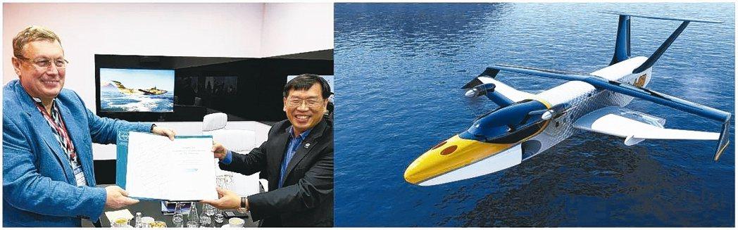 左圖:俄羅斯RADAR(俄羅斯中央船舶設計局母公司)總裁喬治.安采夫GEORGE...