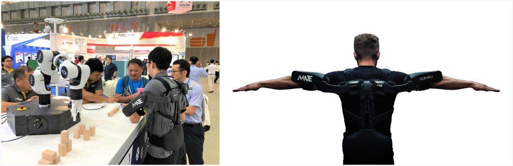 穿戴式外骨骼機器人「MATE」是從柯馬頂尖的工藝製造團隊下研發的產品,可協助現場...