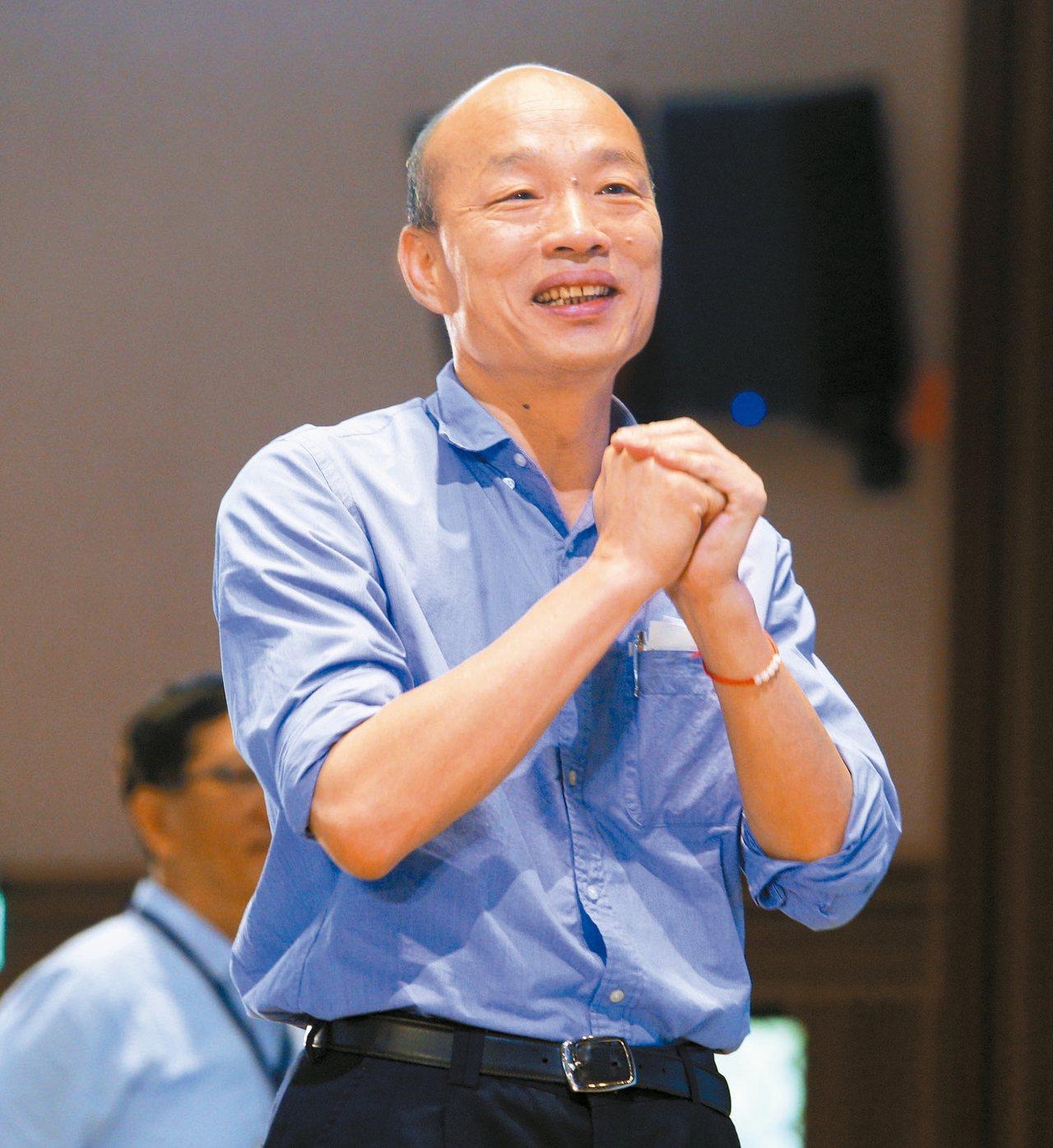 高雄市長韓國瑜上午到輔英科大參加全市校長聯席會議。 記者劉學聖/攝影