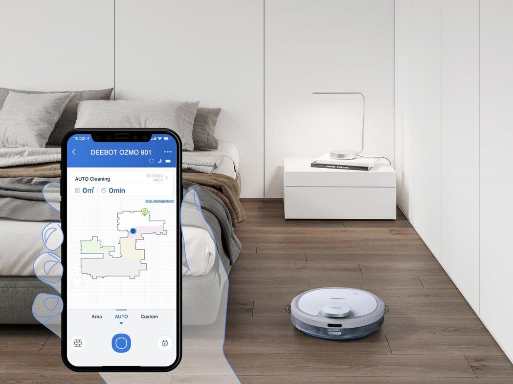 只要使用ECOVACS Home App,您就能隨時隨地控制及監控您的主機。 E...