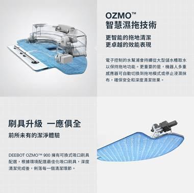 ECOVACS DEEBOT OZMO 900拖地系統功能簡介。 ECOVACS...