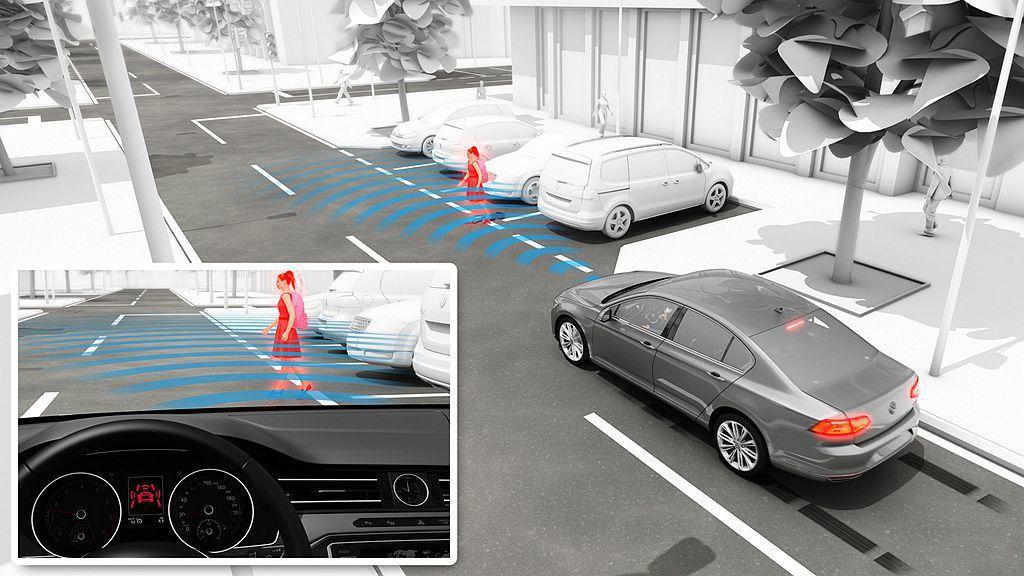 Pedestrian Monitoring行人偵測系統也結合AEB自動輔助緊急煞...