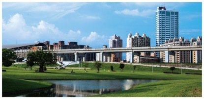 「正義聯盟」鄰近424公頃「大台北都會公園」,擁有無限綠意及水岸美景。 圖/正義...