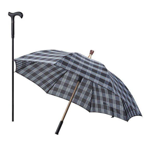 藏杖型拐杖傘。