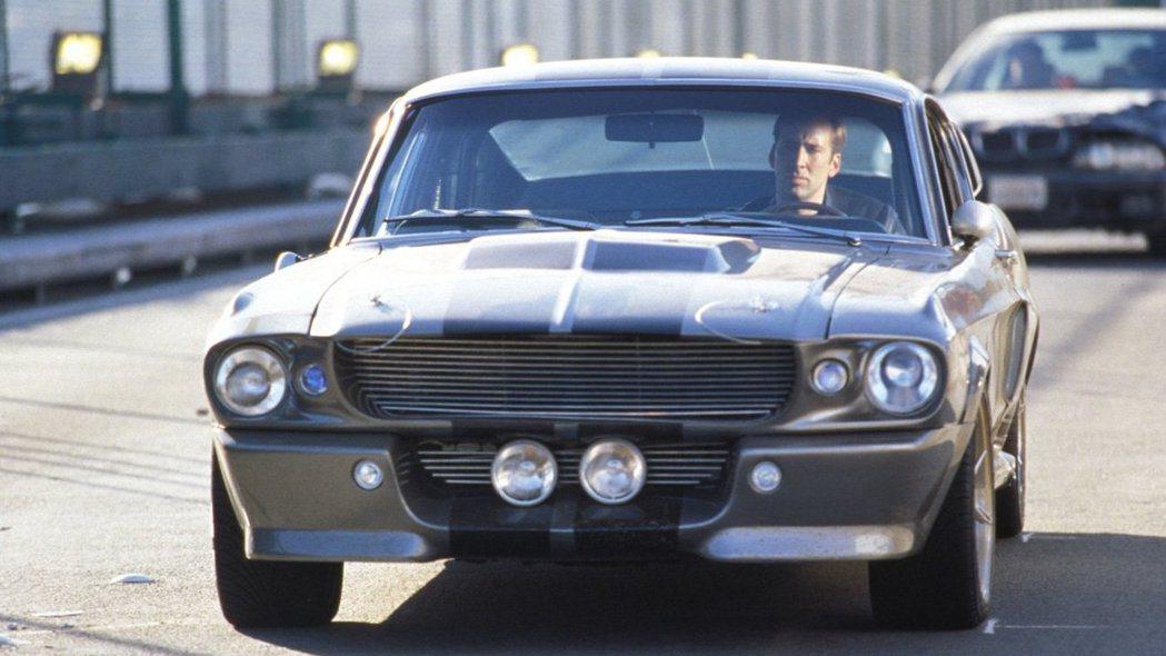 Ford Mustang曾出現在警匪片《驚天動地 60 秒》。 圖/截自電影片段