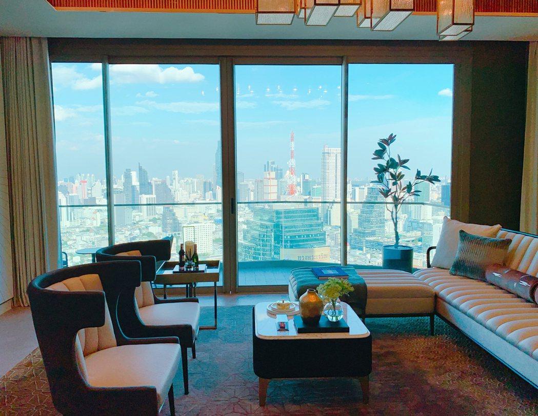 室內裝潢承襲文華東方經典風格,簡約又大方。記者徐力剛/攝影