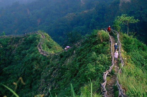 大坑步道部分受到颱風豪雨影響封閉全線路段施工。圖/摘自台中觀光旅遊網