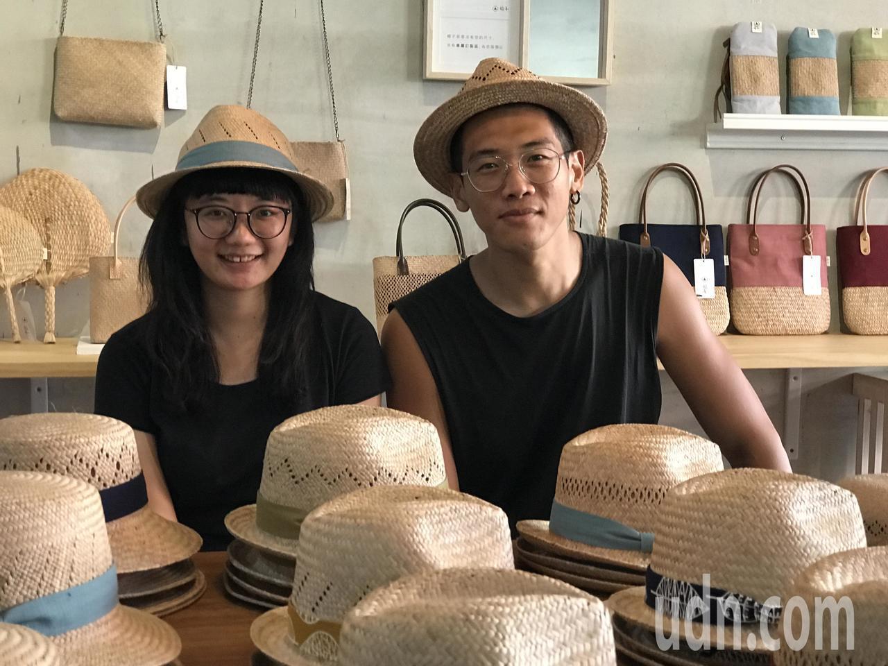 藺子創辦人夫妻檔李易紳(右)與廖怡雅。記者劉星君/攝影