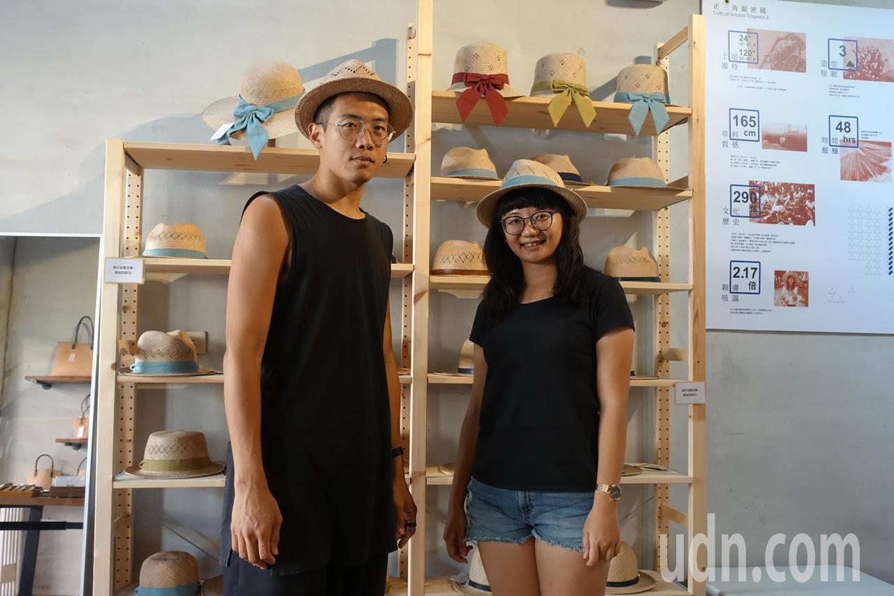藺子創辦人夫妻檔李易紳(左)與廖怡雅。記者劉星君/攝影