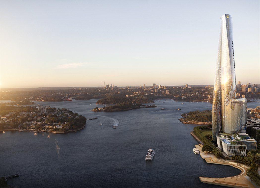 「布朗格魯一號皇冠住宅」座落位置飽覽雪梨歌劇院與港灣大橋景觀。圖/Crown R...