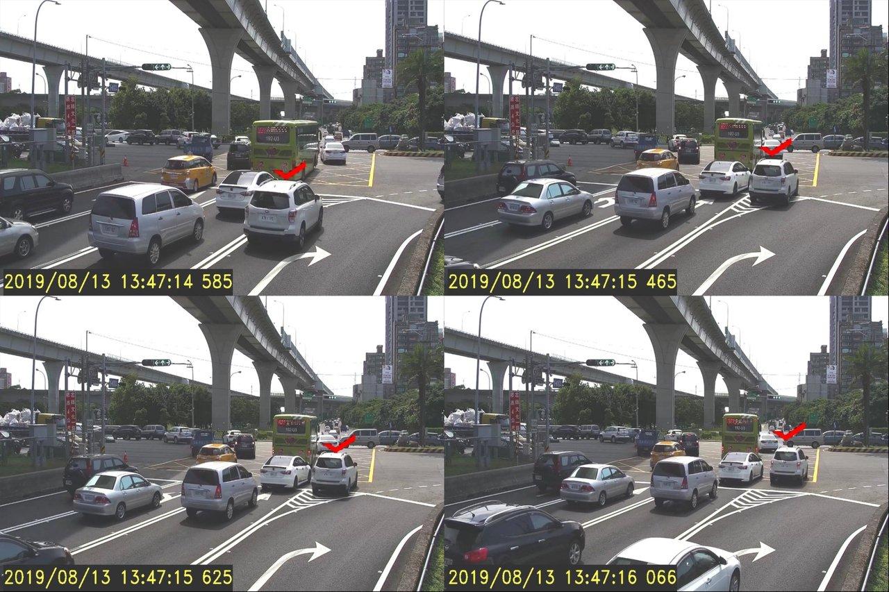 4組路口電眼將能追蹤車輛行進軌跡,違者將被錄影取締。記者巫鴻瑋/翻攝