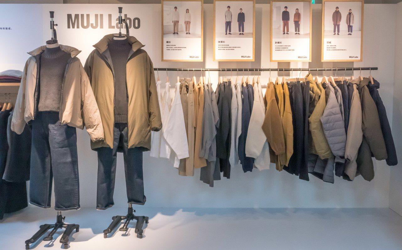 MUJI Labo今年秋冬推出只分尺寸、不分性別的新服飾系列。圖/無印良品提供