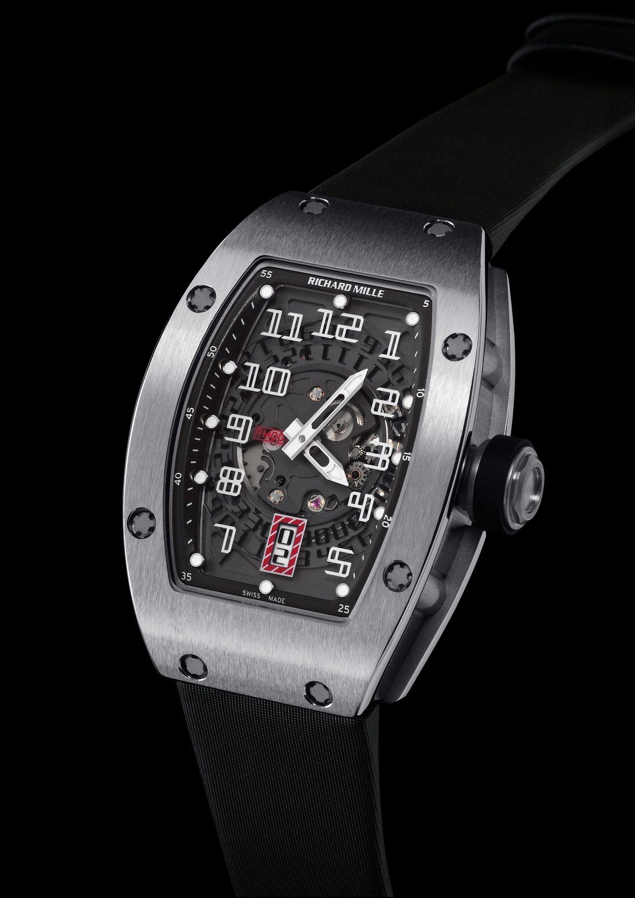 RICHARD MILLE RM 007鈦合金腕表,鈦合金表殼搭配鉑金表冠,動力...