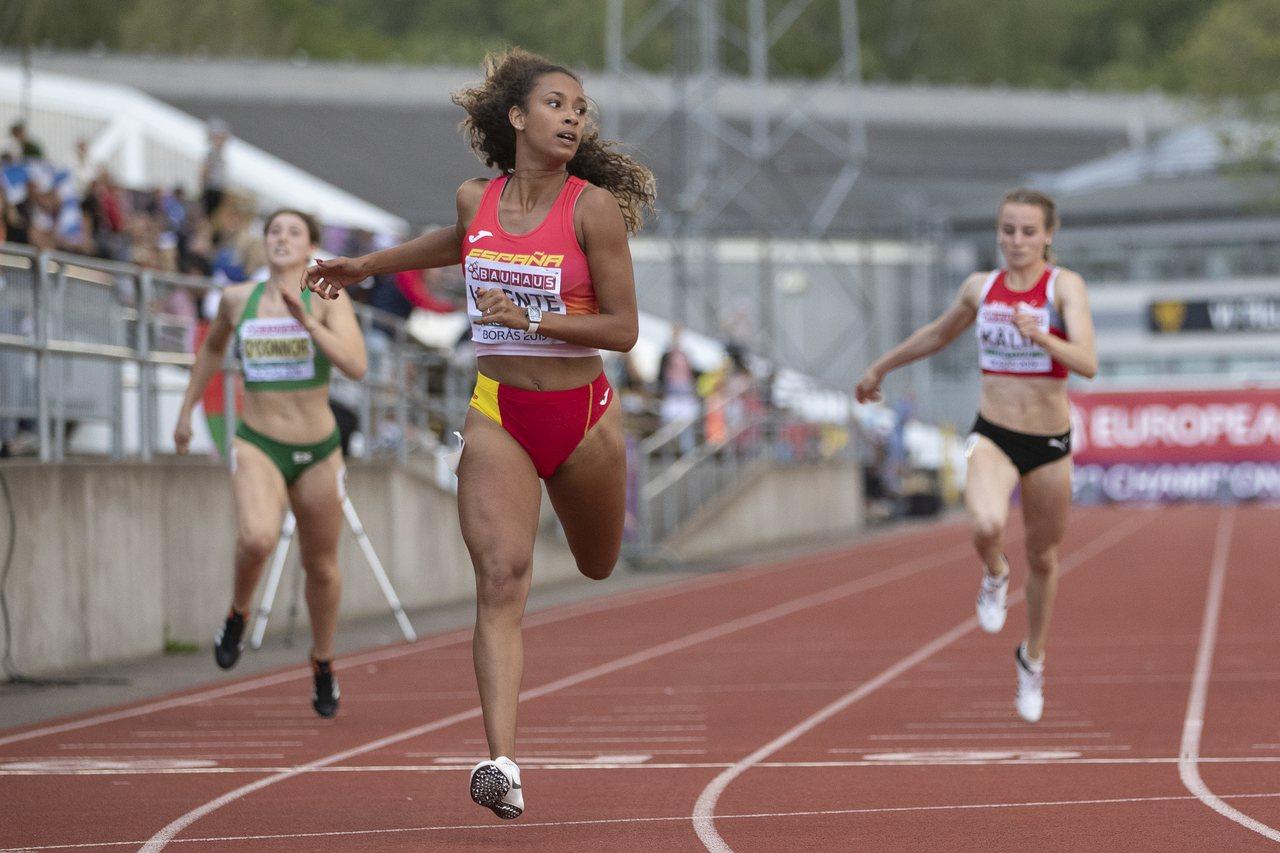 西班牙七項全能好手Maria Vicente在比賽時,配戴了RM 007鈦合金腕...