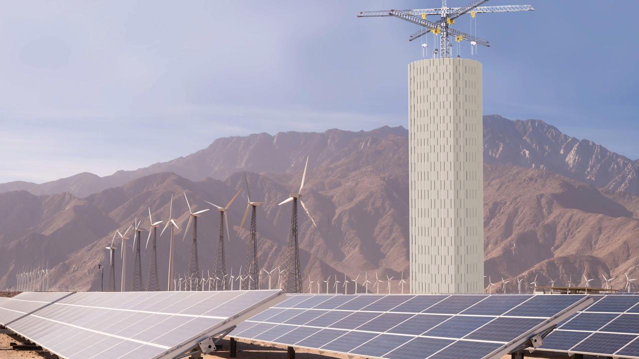 Energy Vault計劃將於義大利展示首座水泥儲能塔。 圖/擷自Energy...