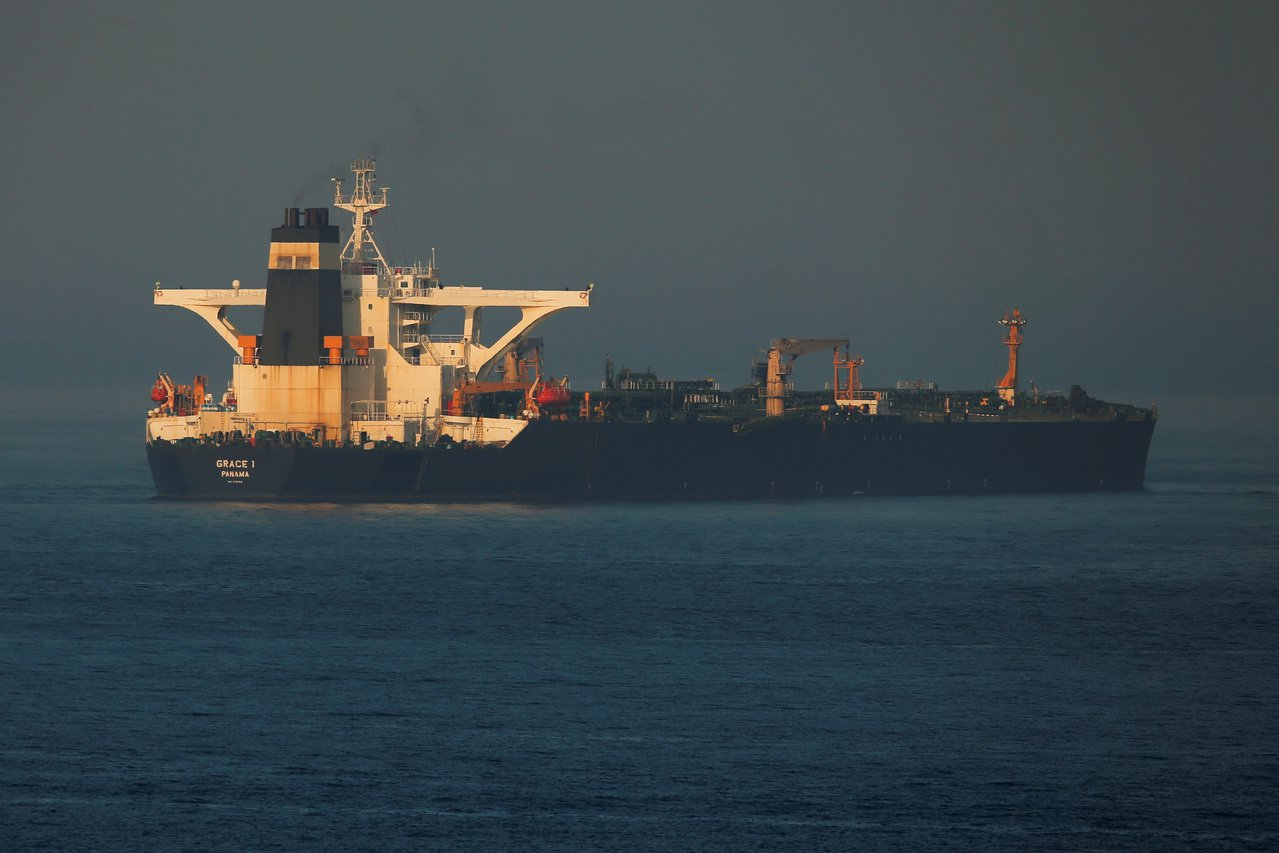 伊朗油輪格雷斯一號上月4日被英國皇家海軍扣押。路透