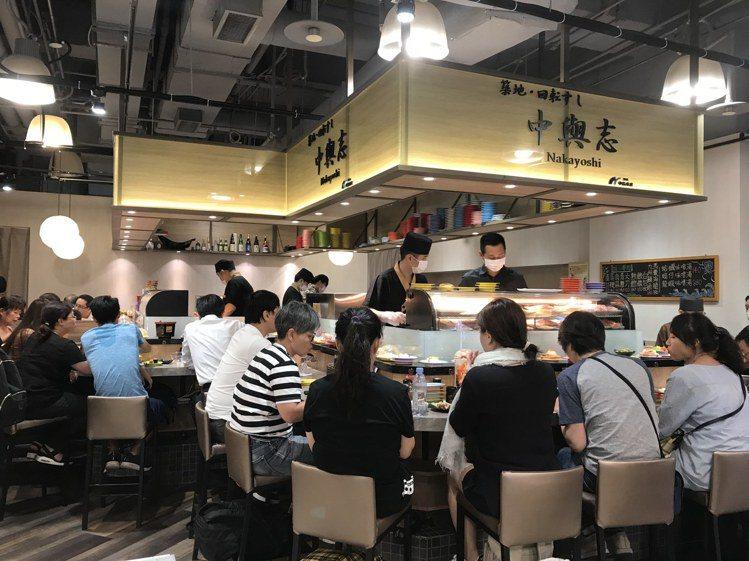 「中與志迴轉壽司」於台北SOGO復興店city'super全新回歸,業績較改裝前...
