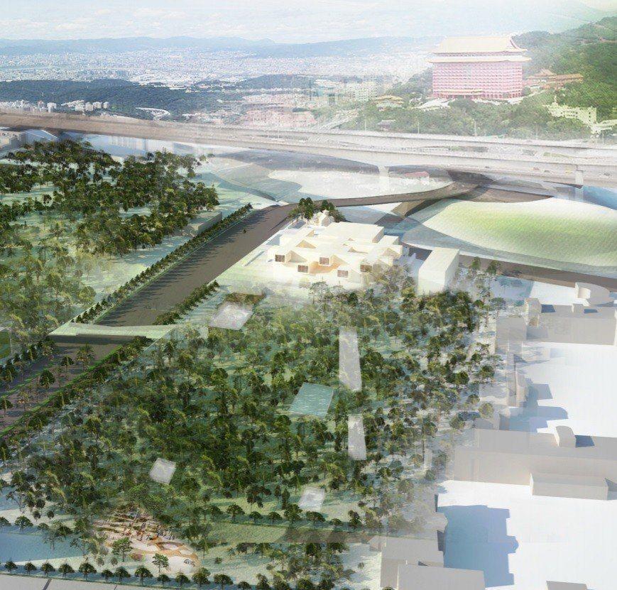 北市府去年宣布擬斥資53億元擴建市立美術館打造台北當代藝術園區。圖/文化局提供