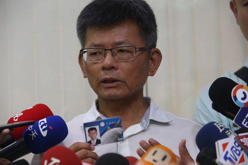 前高雄縣長楊秋興今天宣布退出國民黨,並堅稱國民黨總統提名人韓國瑜有「未爆彈」。聯合報系記者劉學聖/攝影
