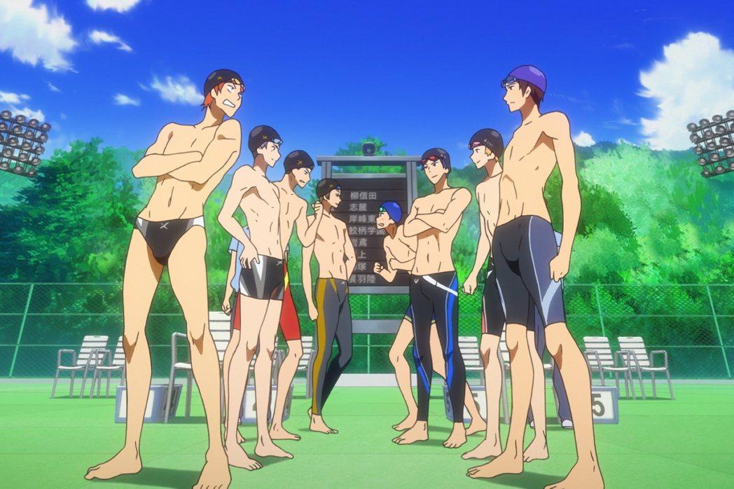 「劇場版FREE男子游泳部」將於月底來台上映。圖/采昌提供