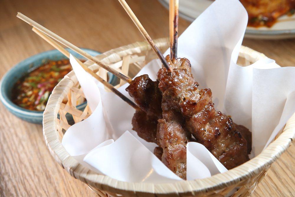 泰式烤豬肉串,每份280元。記者陳睿中/攝影