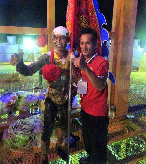 去年冠軍的滿州體育會隊攻旗手彭威華(左)今年居次。記者潘欣中/攝影