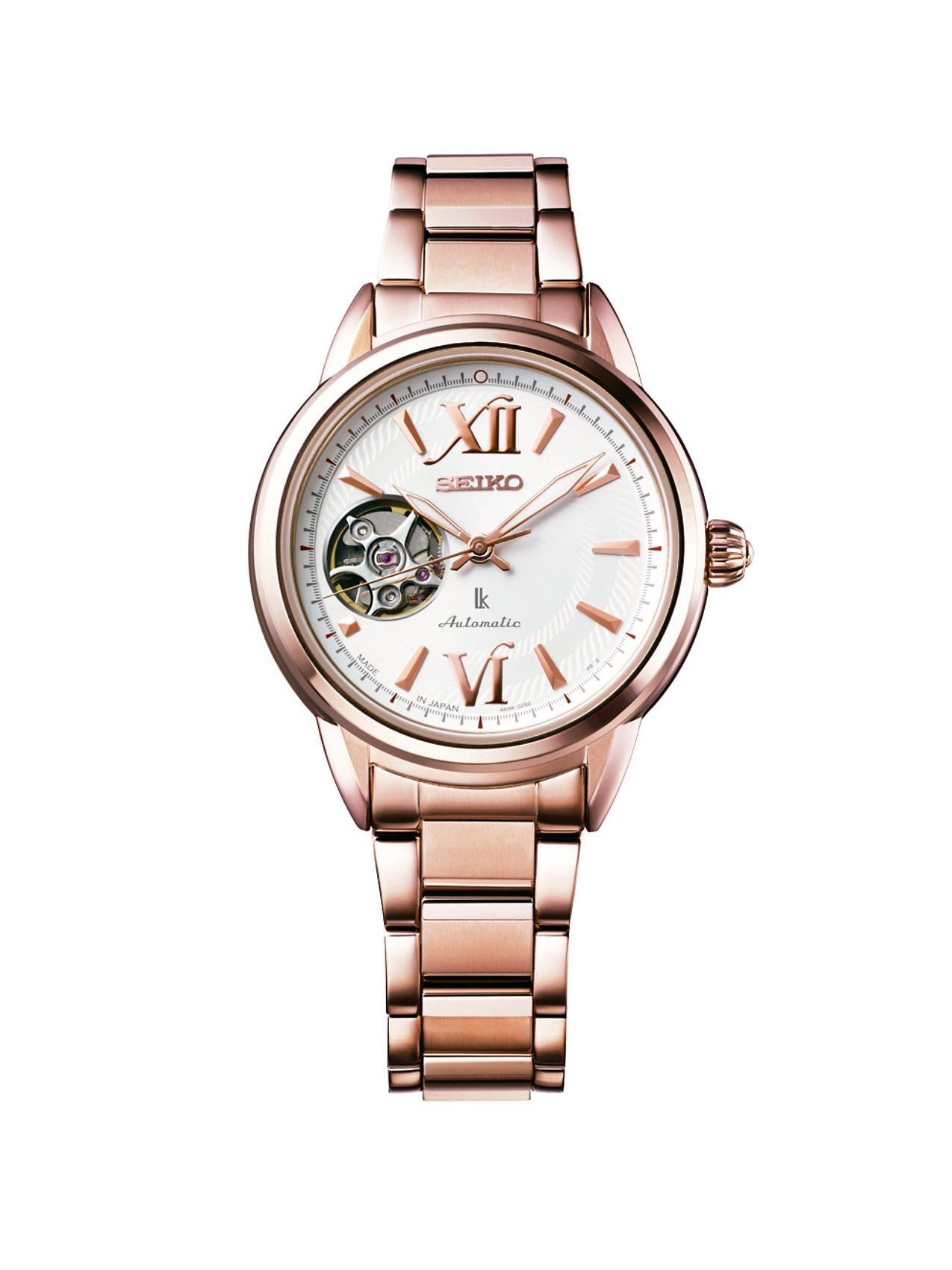 SEIKO LUKIA系列SSA794J1經典機械腕表,鍍玫瑰金色不鏽鋼表殼、表...