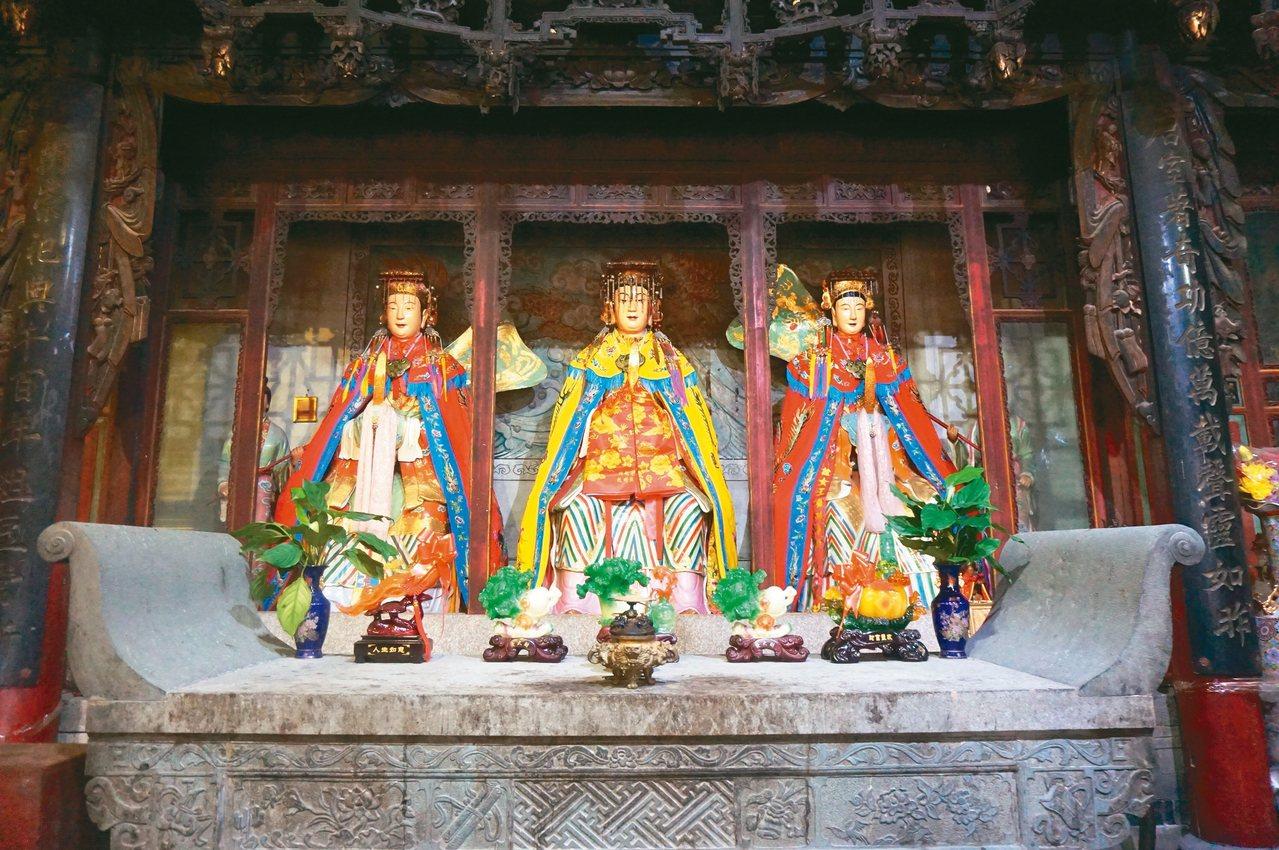 陳靖姑、林九娘、李三娘三位女神情同手足,道教稱「三奶夫人」。 圖/本報古田傳真