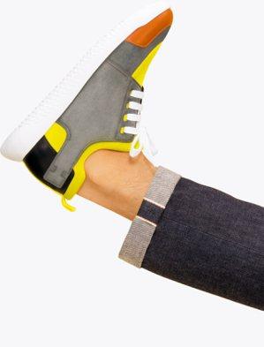 愛馬仕秋冬運動系列鞋款主打異材質拼接與活潑的明亮配色,俏皮有趣。32,400元。...