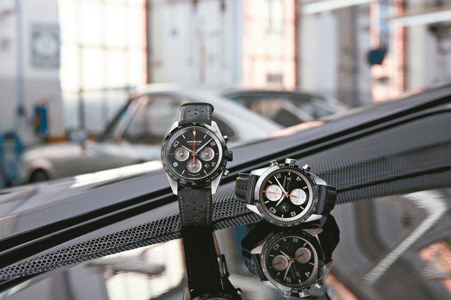 萬寶龍時光行者系列計時腕表,限量1,500枚,19萬400元。 圖/萬寶龍提供
