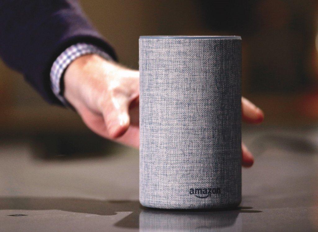 亞馬遜智慧音箱。美聯社