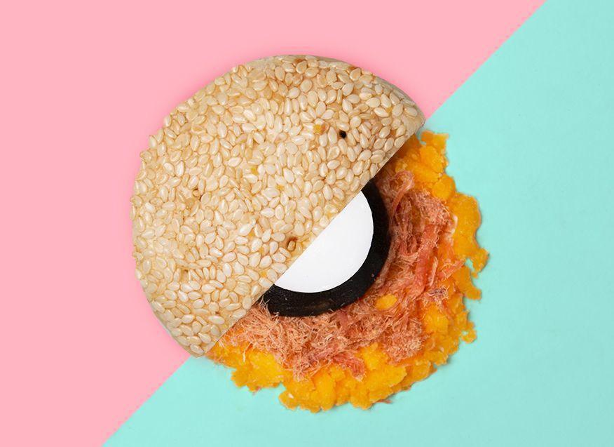 翻玩台灣新味的創意月餅_麻吉餅。 台南老爺行旅 提供