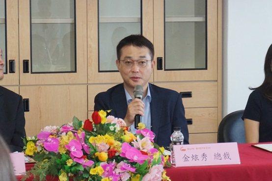 SUN BIOTECH疫苗公司總經理暨行政總裁金炫秀。 楊連基/攝影