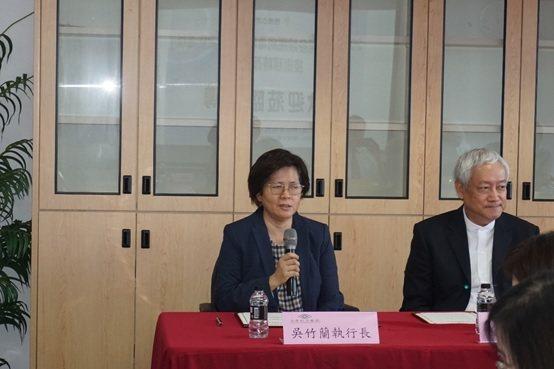 長庚醫療財團法人林口長庚紀念醫院執行長吳竹蘭。 楊連基/攝影