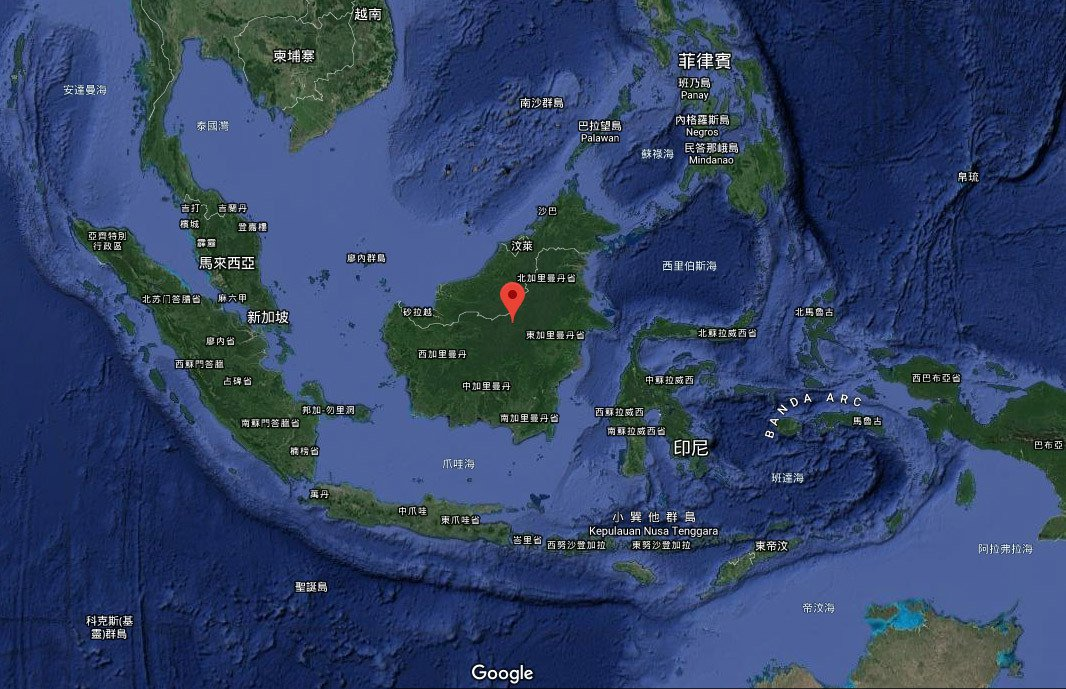 印尼擬將把首都由爪哇島的雅加達遷到婆羅洲的加里曼丹。圖/擷自google map