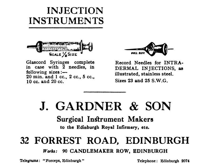 1935年刊登於醫學期刊《Leprosy Review》的大風子油藥劑廣告。 圖/作者提供